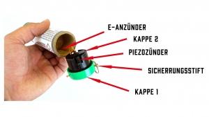 Rauchgranaten und Rauchbomben können auch kräftigen Schlag mittels Schlagzünder gezündet wird
