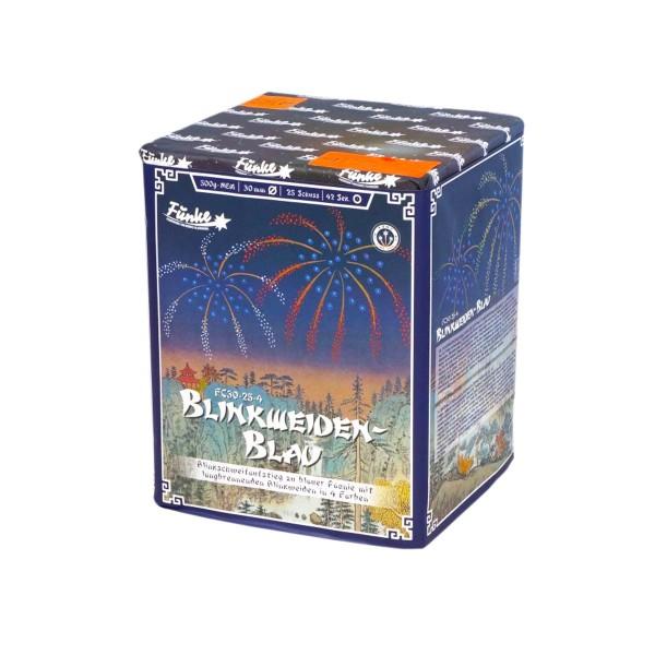 Blinkweiden Blau FC30-25-4 Batteriefeuerwerk funke