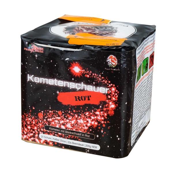 Kometenschauer Rot-Glitter Batteriefeuerwerk Röder Feuerwerk