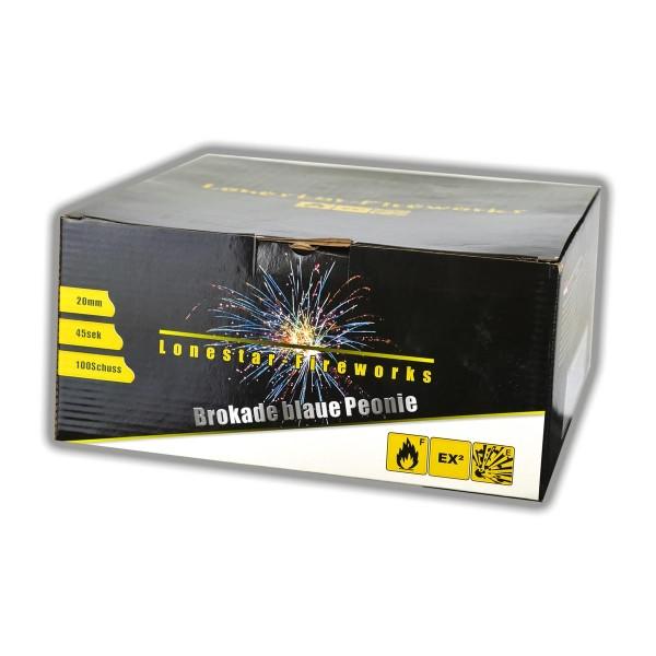 Lonestar Feuerwerksbatterie LS-F2-100-01 mit 100 Schuss an gold-blauen Buketts