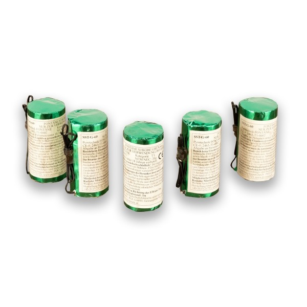Pyrotrade Strobe Green Blitzlichtfontänen in grün