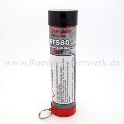 Rauchfackel Rot mit Schlagzünder Bühnenfeuerwerk Rauch PGE Pyrotrade