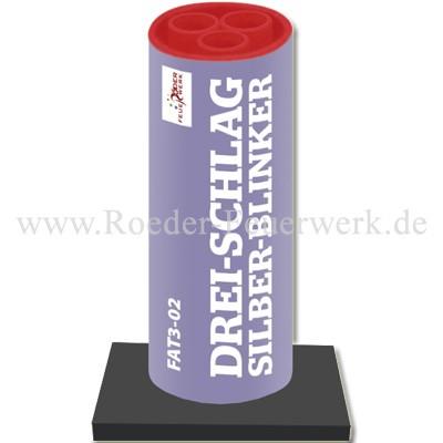 Drei-Schlag Silber-Blinker Einzelschuss Bombenrohre Röder Feuerwerk