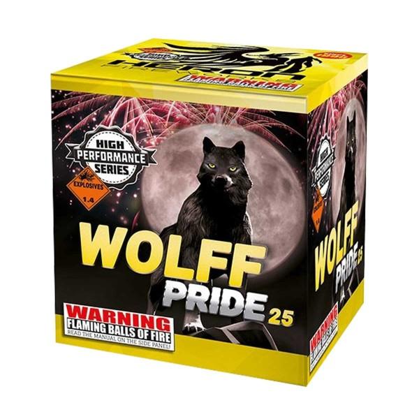 Cake 25/25 I-4 Wolf Pride Batteriefeuerwerk Heron Feuerwerk