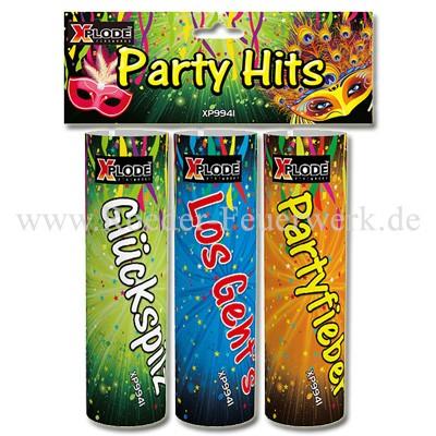 Party Hits Tischbomben 3er PartyArtikel Fackeln Tisch-Feuerwerk Xplode Feuerwerk