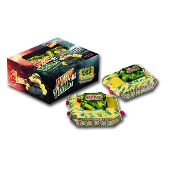 Pyro Tank XL 2er Leuchtfeuerwerk Fontänen Weco Feuerwerk