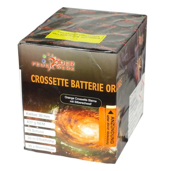 Crossette Batterie orange Batteriefeuerwerk Röder Feuerwerk