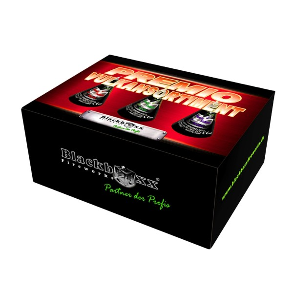 Premio Vulkansortiment Leuchtfeuerwerk Vulkane Blackboxx Fireworks
