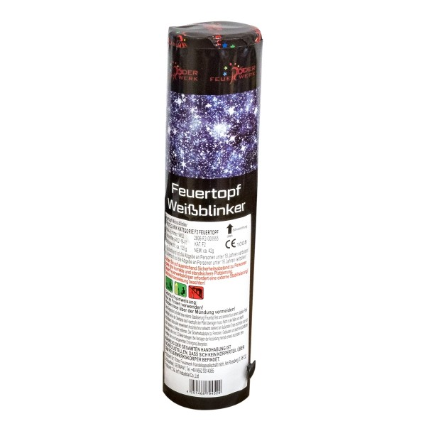 Röder Feuerwerk Feurtopf 50mm weiße Blinker