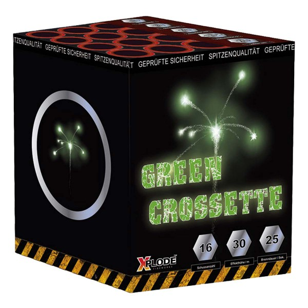 Full Power GRÜN/ Green Crossette Batteriefeuerwerk Xplode Feuerwerk