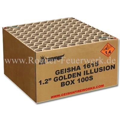 Golden Illusion Verbundfeuerwerk Geisha