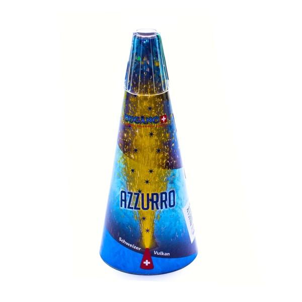 Schweizer Vulkan V Azzuro Kategorie F3 Leuchtfeuerwerk Zink Feuerwerk