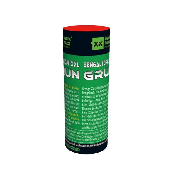 Bengaltopf XXL grün Bühnenfeuerwerk Bengalfeuer Blackboxx Fireworks