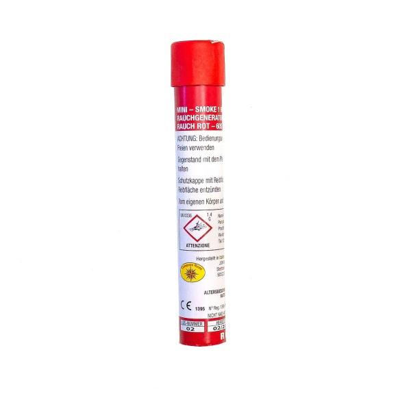 JGWB Rauch-Handfackel Rot (Mini Smoke) Bühnenfeuerwerk Paintball JGW Berckholtz