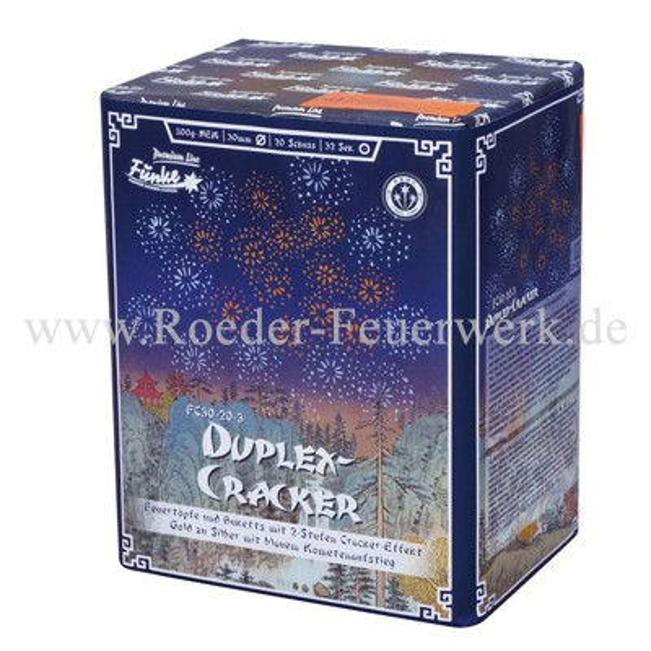 Duplex-Cracker FC30-20-3 Batteriefeuerwerk funke