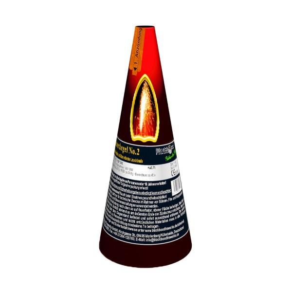 Feuerkegel No.2 silber- rot Bühnenfeuerwerk Outdoor Fontänen Blackboxx Fireworks