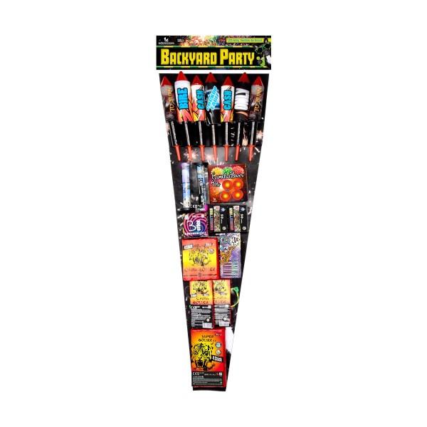 Backyard Party Raketen und Sortimente Familiensortimente Lesli Feuerwerk