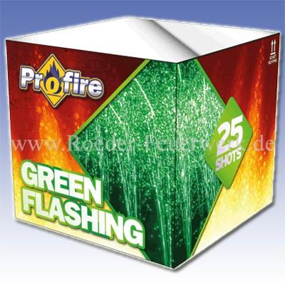 Green Flashing 2er- Kiste Batteriefeuerwerk evolution Feuerwerk