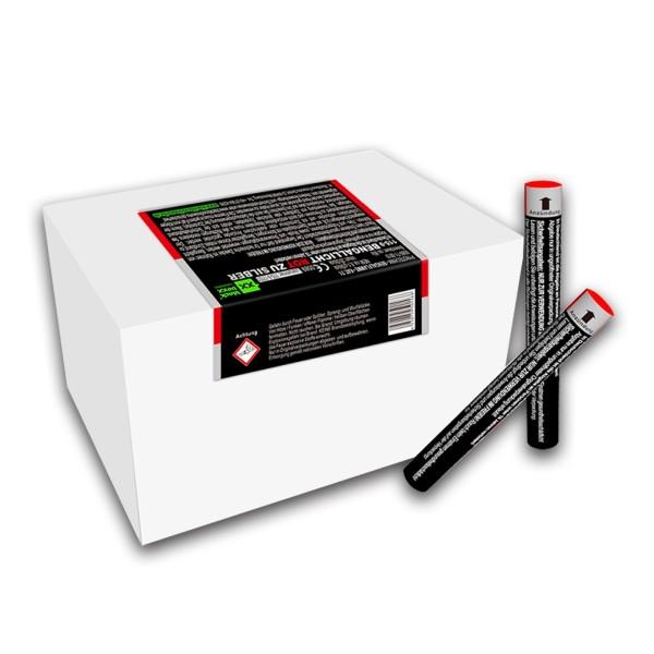 Figurenlicht raucharm rot zu silber Bühnenfeuerwerk Figurenlichter Blackboxx Fireworks
