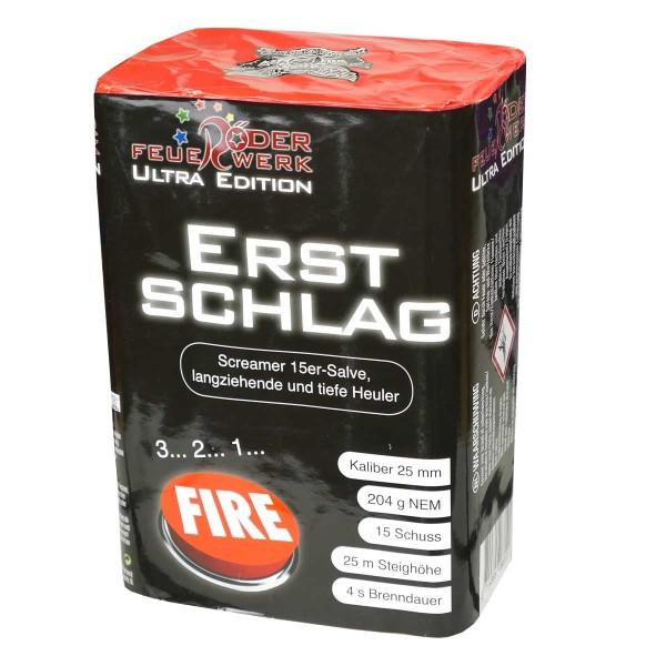 Erstschlag Batteriefeuerwerk Röder Feuerwerk