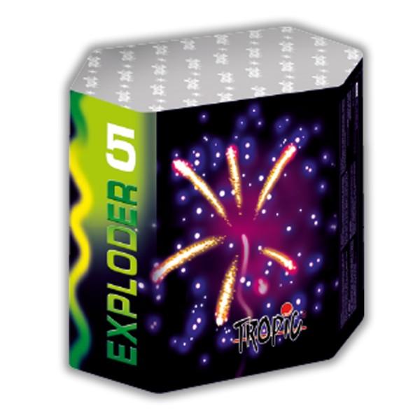 Exploder 5 Kategorie F3 Batteriefeuerwerk Tropic