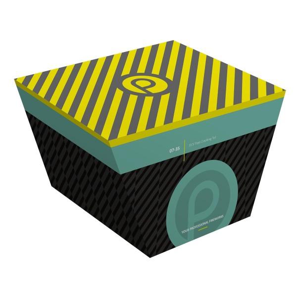 PyroProdukt 7- 35 Titan Crackling Tail Batteriefeuerwerk Pyroprodukt