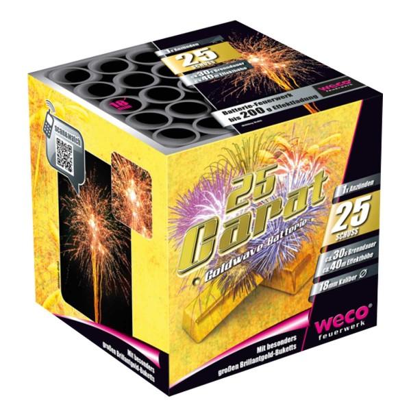 25 Carat Batteriefeuerwerk weco feuerwerk