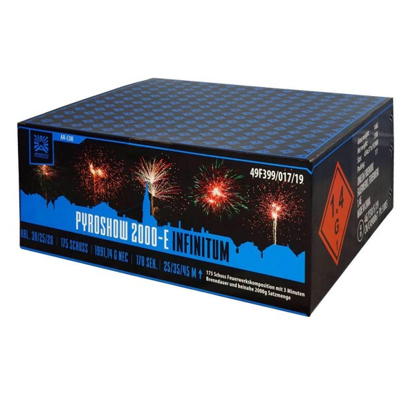 Pyroshow 2000-E Infinitum von Argento Feuerwerk bestellen