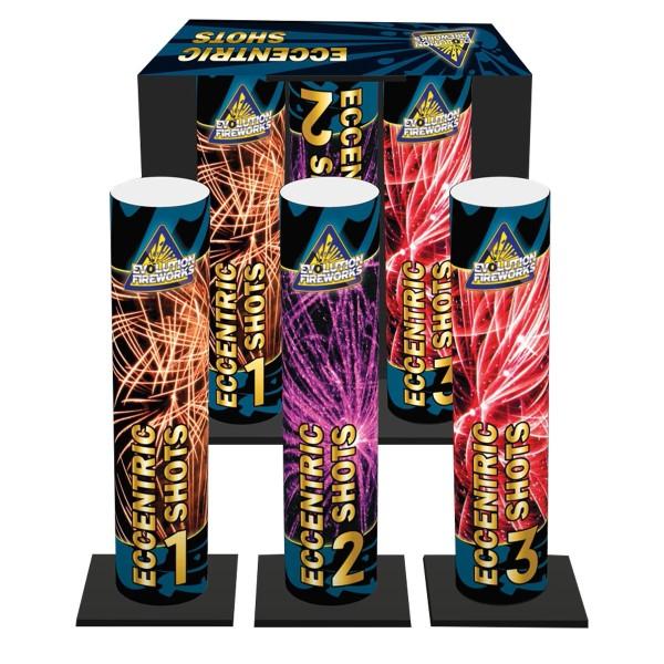 Eccentric Shots Bombenrohre von Evo Fireworks