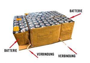 Verbundfeuerwerk ist verbundenes Feuerwerk, Feuerwerksbatterien miteinander verbunden