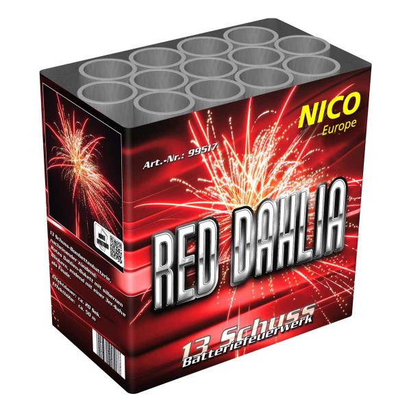 Red Dahlia Batteriefeuerwerk nico Feuerwerk