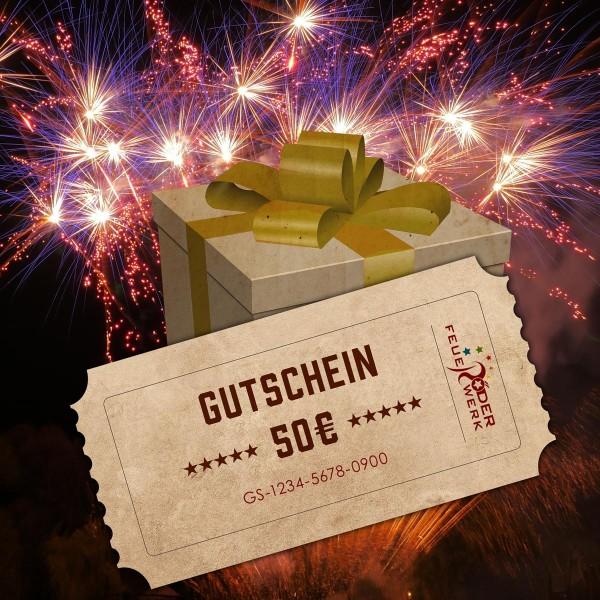 Feuerwerk Geschenk Gutschein online bestellen 50 Euro