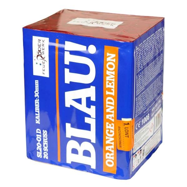 BLAU Orange und Lemon Batteriefeuerwerk Röder Feuerwerk