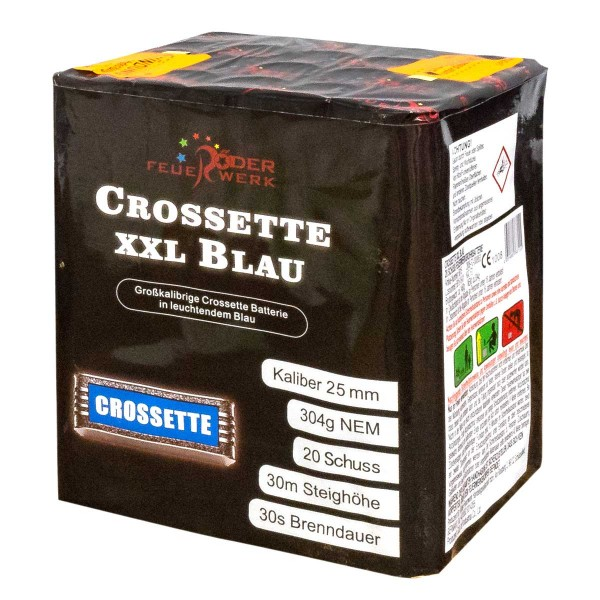 Crossette XXL Blau Batteriefeuerwerk Röder Feuerwerk