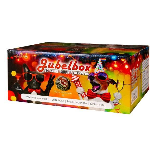 Die Jubelbox von Röder Feuerwerk bietet viel Feuerwerk zum kleinen Preis