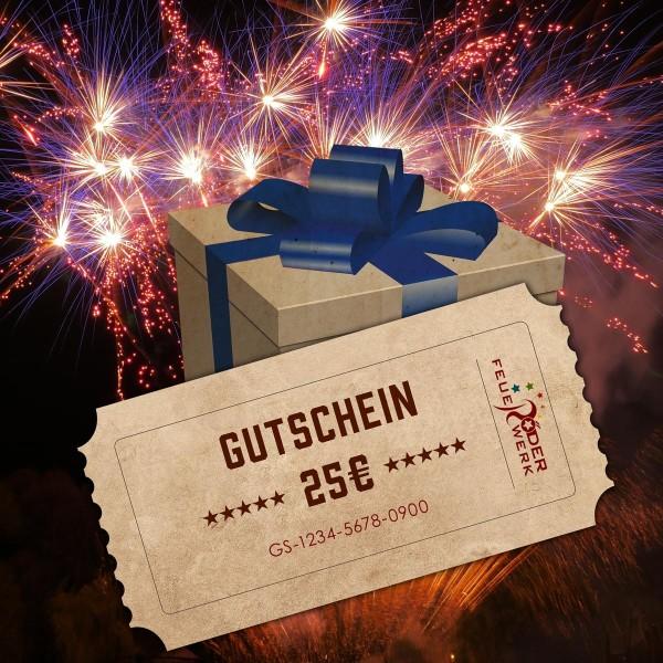Feuerwerk Geschenkgutschein 25 Euro online bestellen