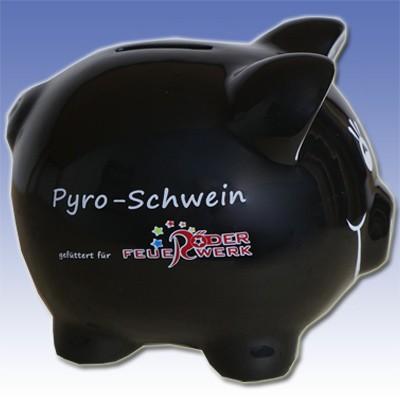 Sparschwein Merchandising Werbemittel Röder Feuerwerk