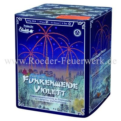 Funkenweide Violett FC30-25-29 Batteriefeuerwerk funke